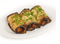 eggplant rolls stuffed with nuts, 1 kg