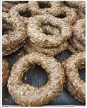 simit rye withseeds  1 piece
